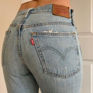 Levis 501 Distressed Button Fly Jeans 26x30